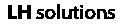 Logo LH Solutions zwart